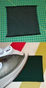 So sieht die genähte Tasche aus - Gut gebügelt ist halb genäht! ;)