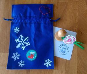 "Im 6.Säckchen: Stempel ""Merry Christmas"""