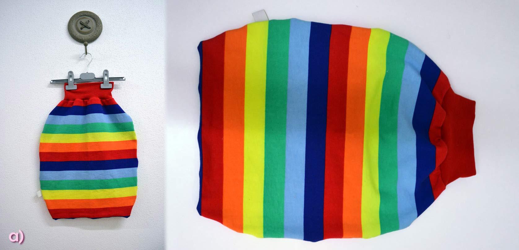 Der fertige Regenbogen-Pucky Variante a