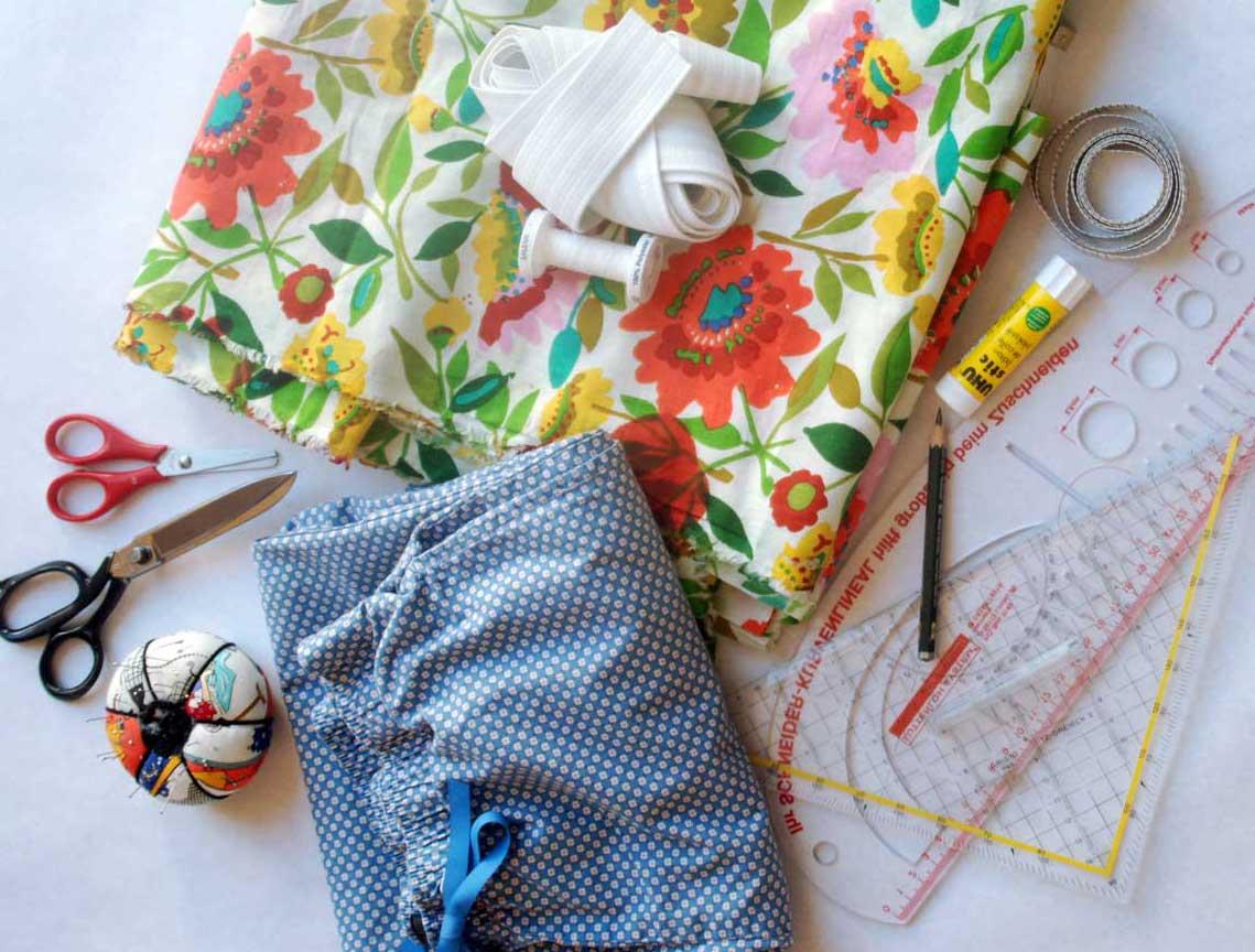 So, ich habe alle Materialien für die leichte Sommerhose beisammen - es kann losgehen!