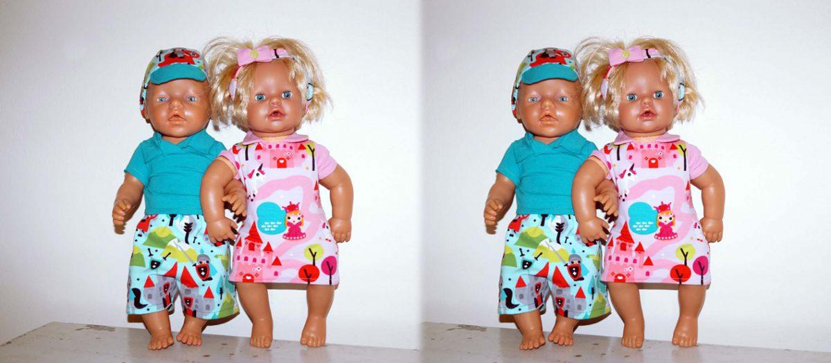 Titelbild Puppenkleidung Teil2 Hose Pulli und Mütze