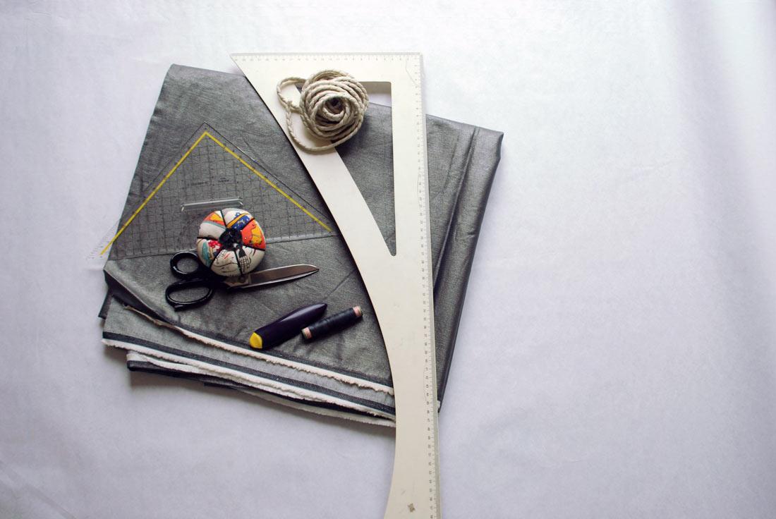 Diese Materialien benötigen wir, um den Turnbeutel Rucksack zu nähen