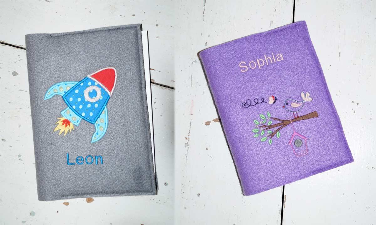 Zwei weitere Versionen meiner Buchhülle - diesmal für Kinder