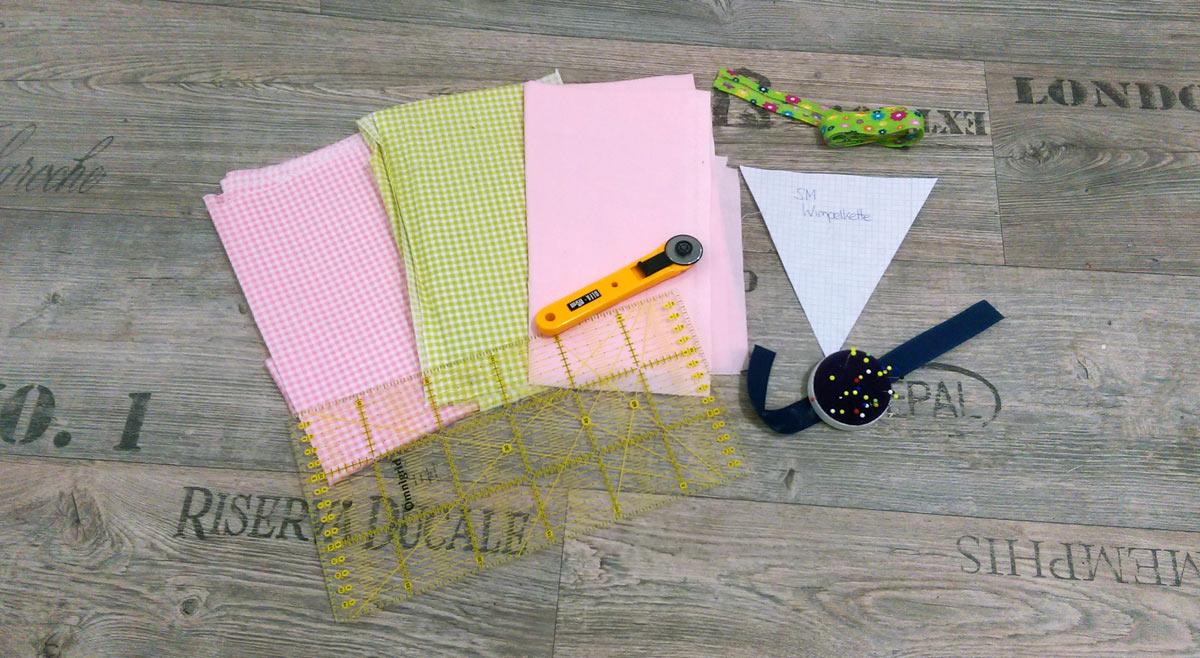 Bild2-Materialien für die Wimpelkette
